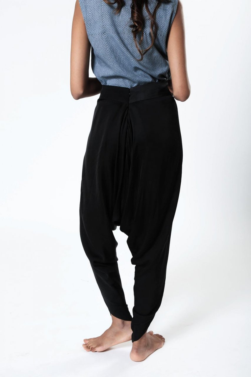 Essential Black Dhoti Pants - Riviera Closet