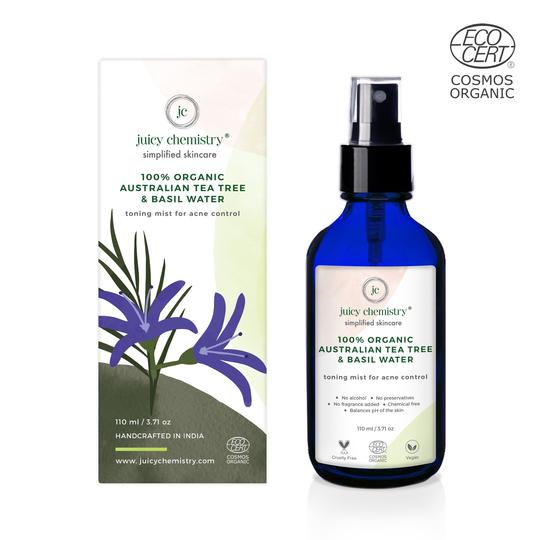 Organic Australian Tea Tree & Basil Water Toner and Mist - Riviera Closet