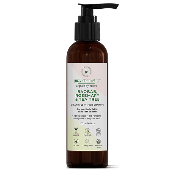 Baobab, Rosemary & Tea Tree Organic Shampoo-200ml - Riviera Closet