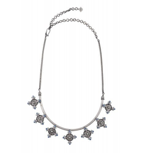 Multi Enamel Coin Hasli Necklace - Riviera Closet