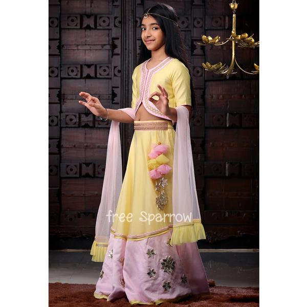 Candy Marshmellow Lengha Set - Riviera Closet