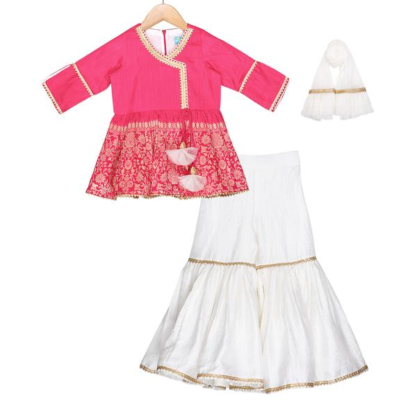 Hot Pink Sharara Set - Riviera Closet