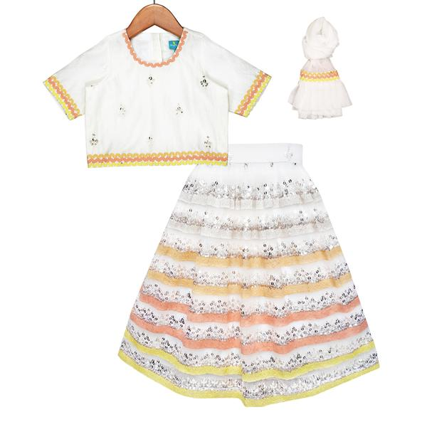 Dreamy Chic Lehenga Set by FreeSparrow Kids
