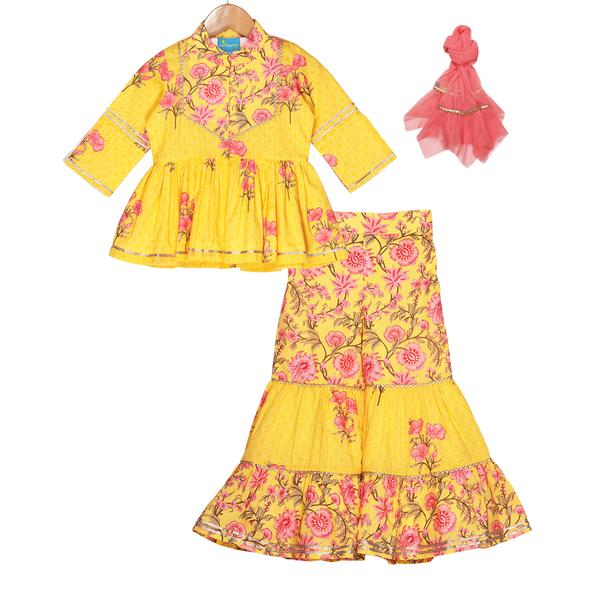 Naina Sharara Set by FreeSparrow Kids