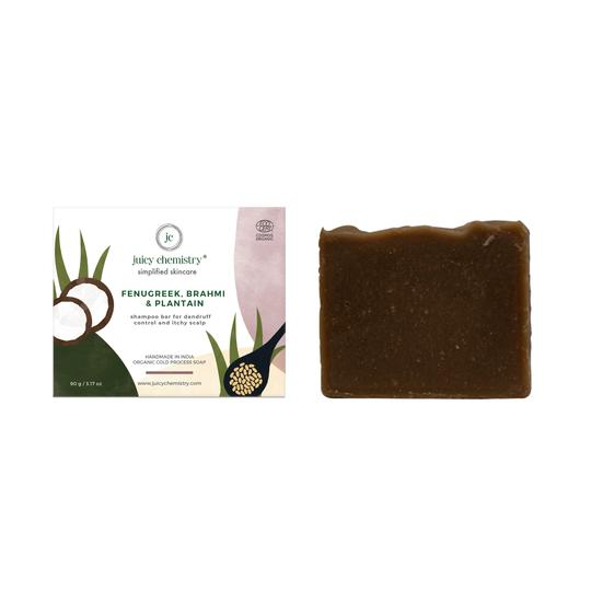Fenugreek, Brahmi & Plantain Organic Shampoo Bar - Riviera Closet