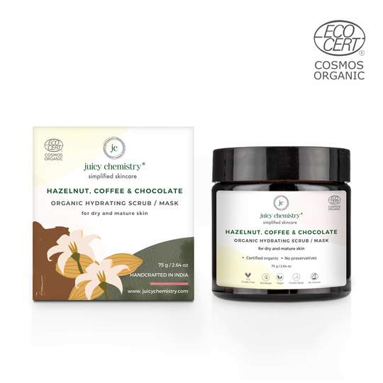 Hazelnut, Coffee & Chocolate Organic Hydrating Scrub/Mask - Riviera Closet