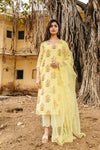 Mehnaaz Yellow Uppada Silk Salwar Suit Set - Riviera Closet