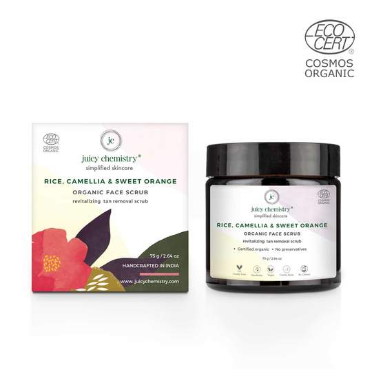 Rice , Camellia & Sweet Orange Organic Face Scrub - Riviera Closet