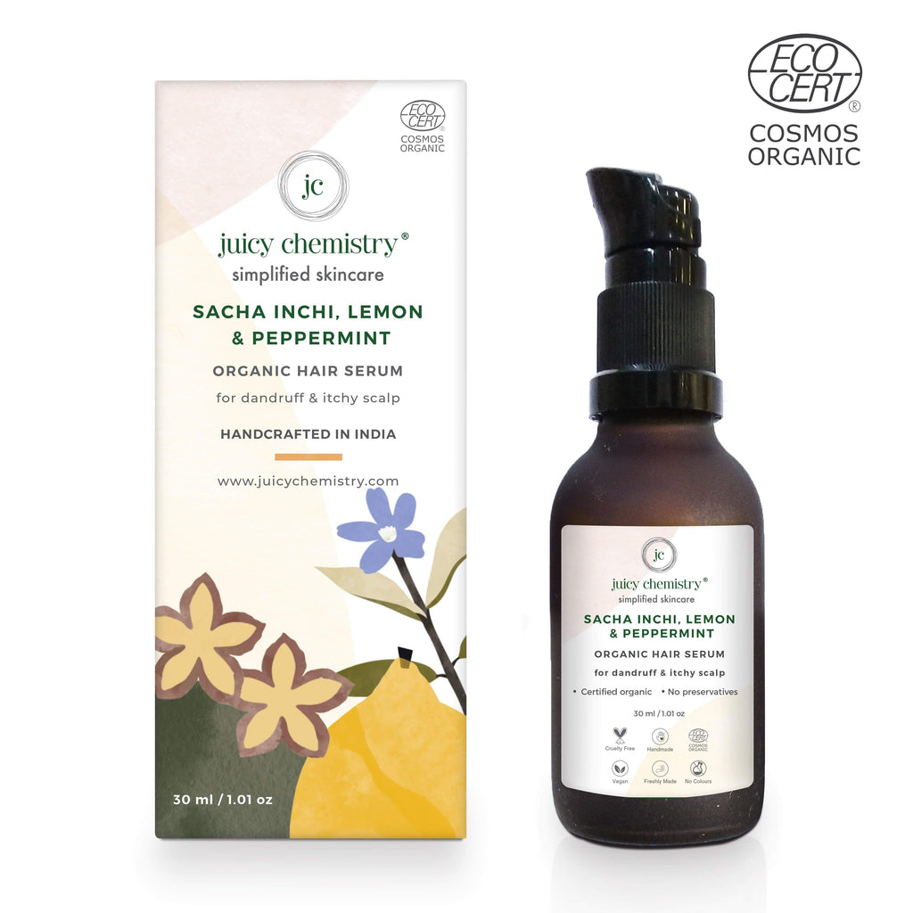 Sacha Inchi, Lemon & Peppermint Organic Hair Serum - Riviera Closet
