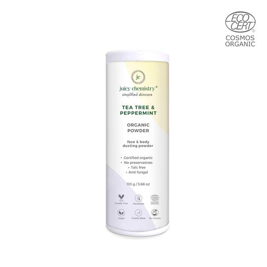 Tea Tree & Peppermint Organic Face & Body Dusting Powder - Riviera Closet