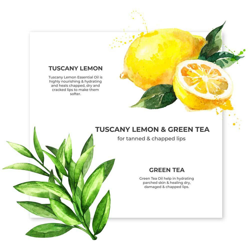 Tuscany Lemon & Green Tea Organic Lip Balm - Riviera Closet