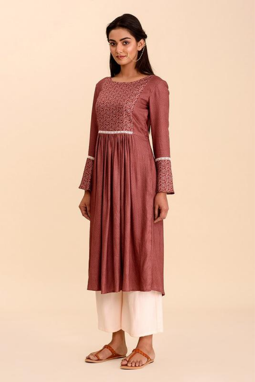 Riwaayat Rosewood Kurti with Pants Set - Riviera Closet