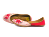 Pink Juttis with Hand Embroidered Sakura Motifs - Riviera Closet