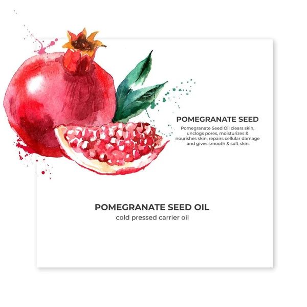 Organic Cold Pressed Pomegranate Carrier Oil - Riviera Closet