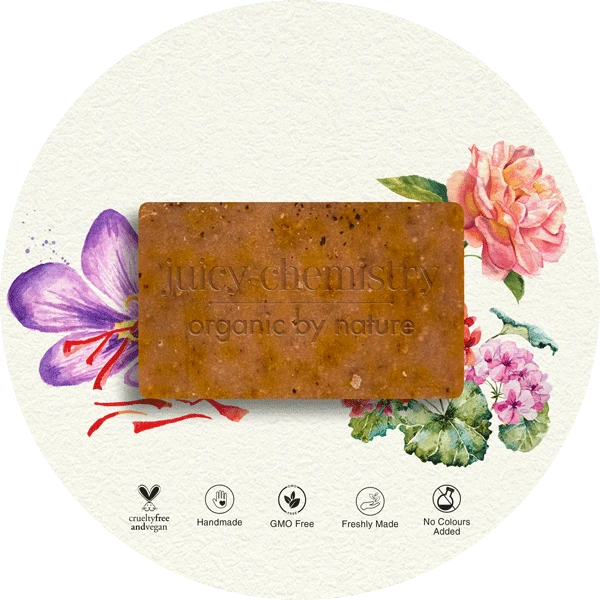 Damask Rose, Geranium & Saffron Organic Cold Pressed Soap - Riviera Closet