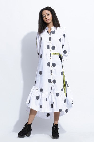 Polka dress with ruffles  - Riviera Closet
