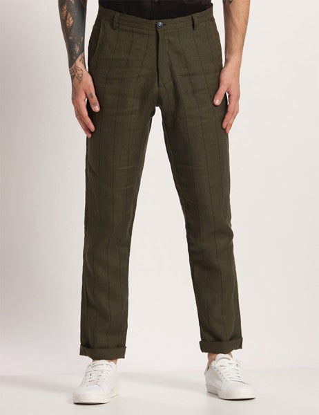 TOCO STRIPER DEEP GREEN PANTS - Riviera Closet