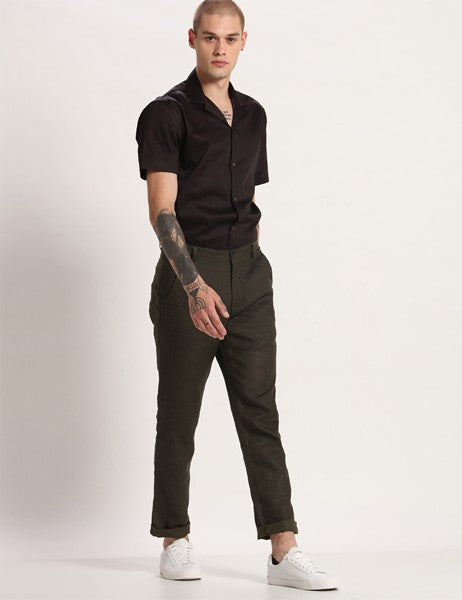 TOCO DEEP GREEN GRID PANTS - Riviera Closet