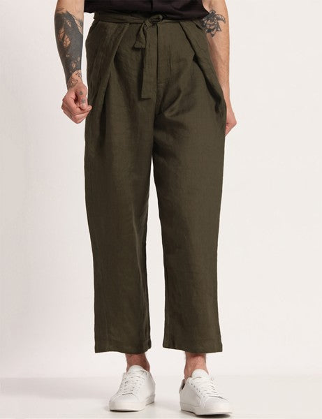 SENDAI DEEP GREEN PANTS - Riviera Closet