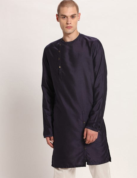MERGER DEEP BLUE KURTA SET - Riviera Closet
