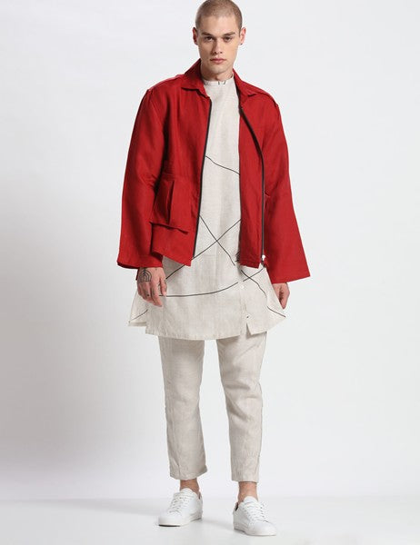 MOONDALE RED JACKET - Riviera Closet