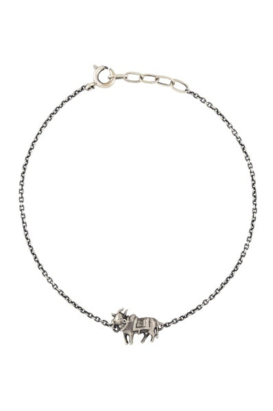 Holy Cow Silver Plated Masaba Bracelet - Riviera Closet