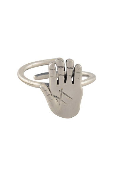 Masaba Palm Silver Plated Ring - Riviera Closet