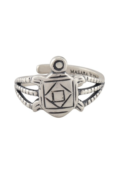 Masaba Turtle Silver Plated Ring - Riviera Closet
