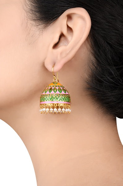 Alpana Silver Jhumki Earrings - Riviera Closet