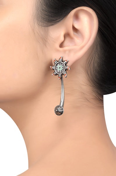 Multi Enamel Chandrika Sun Earrings - Riviera Closet