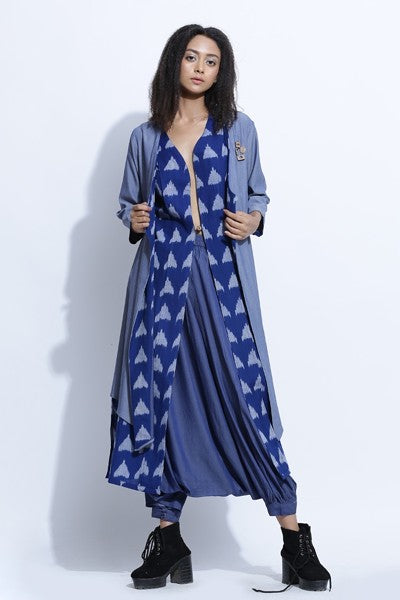 Denim Ikat Jacket Set  - Riviera Closet