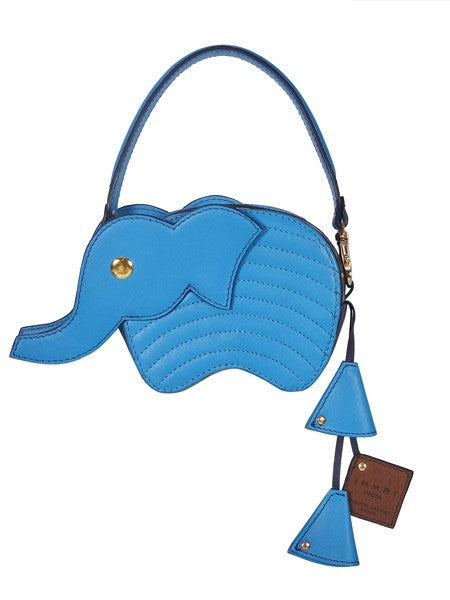 Blue Elephant Wallet with Chain Sling - Riviera Closet