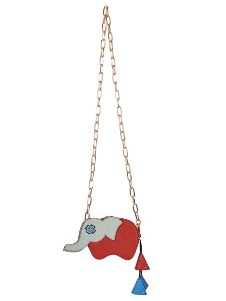 Red Elephant Wallet with Chain Sling - Riviera Closet