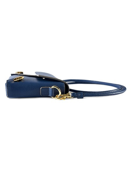 Blue Leather Fold Bag for Women - Riviera Closet