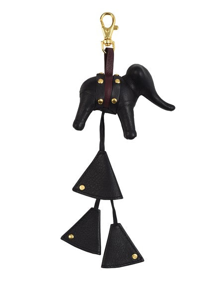 Mischievous Black Elephant Bag Charm - Riviera Closet