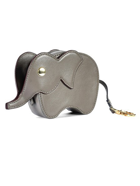 Grey Elephant Leather Wallet - Riviera Closet