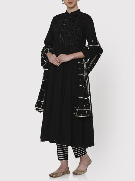 Zubeida Black Kalidar Suit Set - Riviera Closet