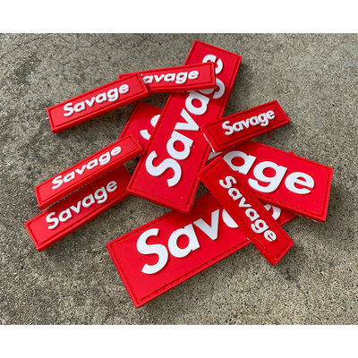 Savage Patch - Mini Red Box - Savage Barbell Apparel
