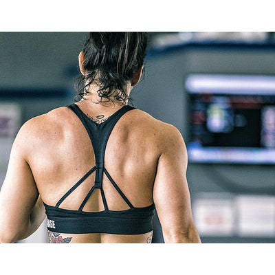 Sports Bra - Racerback - Black - Savage Barbell
