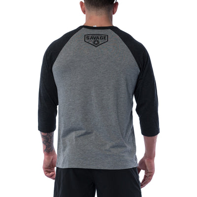 Unisex 3/4 Sleeve T-Shirt - Let's Bang - Savage Barbell Apparel