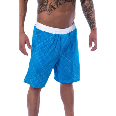 Men's Shorts - Gym - Tidal Blue - Savage Barbell Apparel