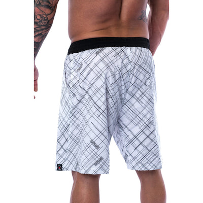 Men's Shorts - Gym - White - Savage Barbell