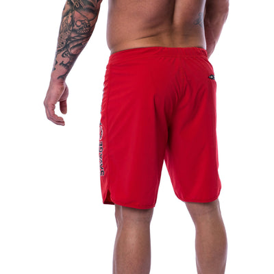 Men's Shorts - Hybrid - Red - Savage Barbell