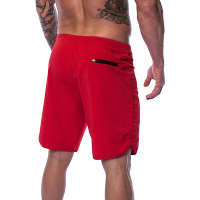 Men's Shorts - Hybrid - Red - Savage Barbell Apparel