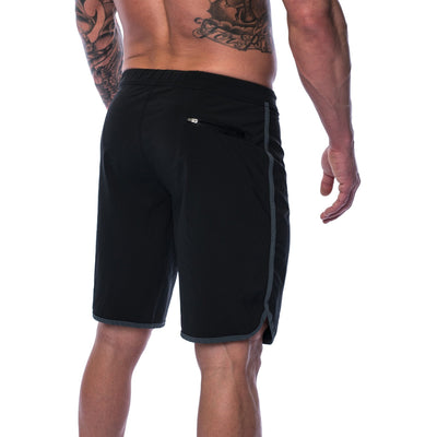 Men's Shorts - Hybrid - Black - Savage Barbell