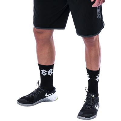 Socks - Black with SB logo - Savage Barbell Apparel