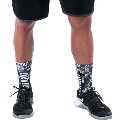Socks - Let's Bang black and white - Savage Barbell