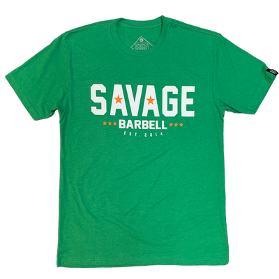 2020 Irish Savage - Green - Savage Barbell Men's T-Shirt - Savage Barbell