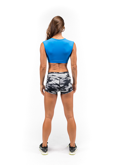 Booty Shorts - Gray Camo - Savage Barbell