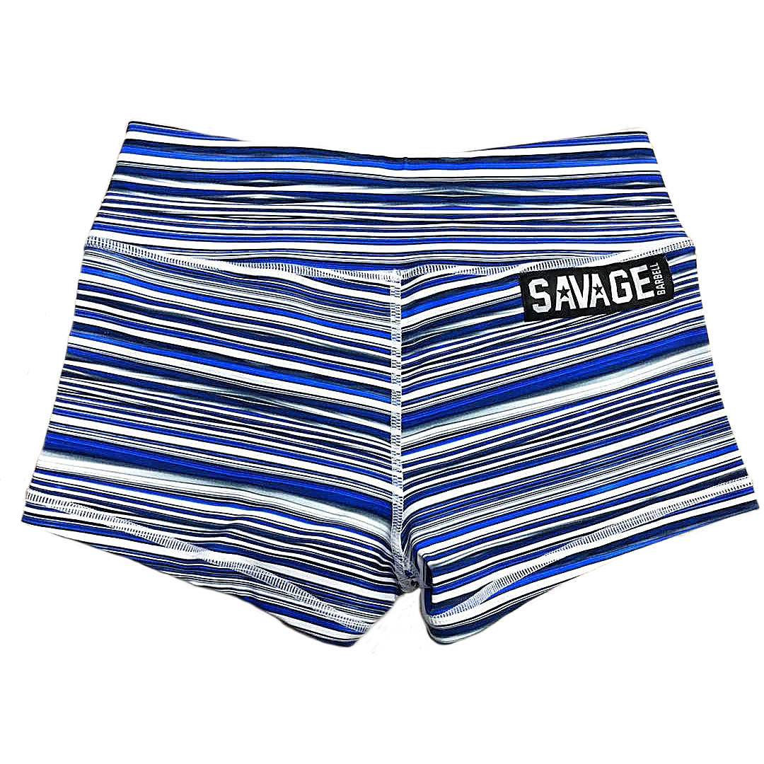 Booty Shorts - Blue Jawbreaker - Savage Barbell